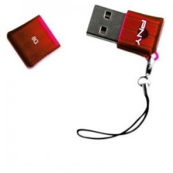 Pendrive PNY 8GB USB Flash Drive rojo