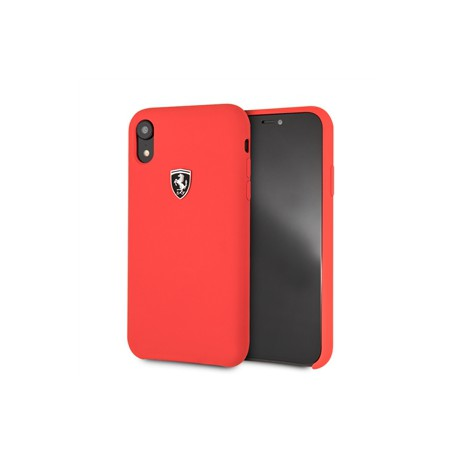 Ferrari funda Apple iPhone XRsilicona roja